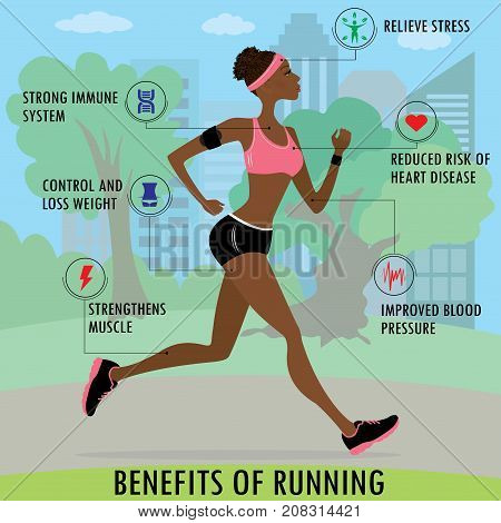 Benefits Of Running, Slim Woman Jogging In The Park,