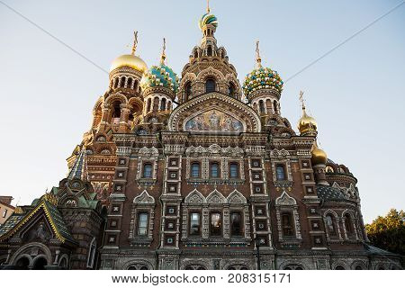 Church of the Savior on Blood in St. Petersburg Russia .