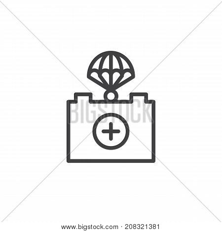 First aid line icon, outline vector sign, linear style pictogram isolated on white. Symbol, logo illustration. Editable stroke