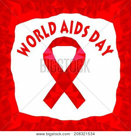 Vector illustration polygonal for world aids day