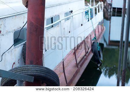 Old Fishing Boat Ushuaia Patagonia Argentina Tierra Del Fuego