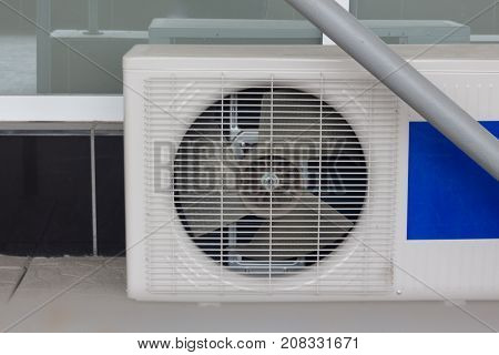 Air conditioner compressor installed in old building