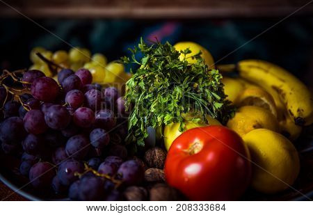Tasty Fruits And Vegetables