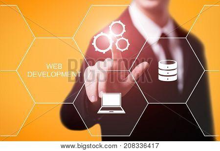 Web Development Coding Programming Internet Technology Business concept.