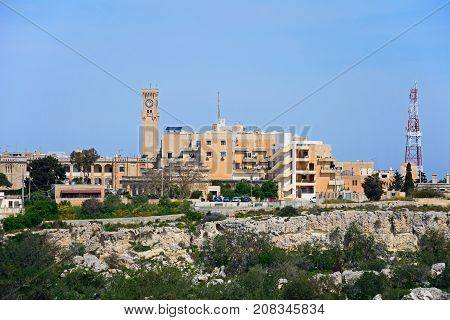 IMTARFA, MALTA - APRIL 1, 2017 - View of the town during the Springtime Imtarfa Malta Europe, April 1, 2017.