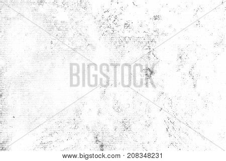 Subtle Black Halftone Vector Texture Overlay. Monochrome Abstract Splattered White Background. Dotte
