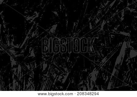 Monochrome Abstract Vector Grunge Texture. Gray And Black Illustration. Sketch Abstract To Create Di