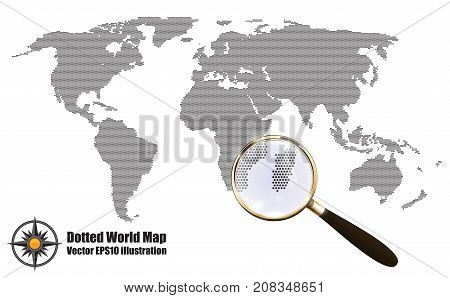 Abstract dotted map vector photo free trial bigstock abstract dotted map black and white halftone grunge effect vector illustration world map silhouette gumiabroncs Images