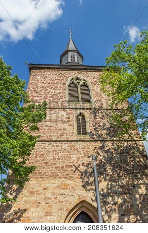 Church Tower In The Historic Center Of Blomberg