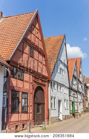 Half-timbered Houses In The Historic Center Of Blomberg
