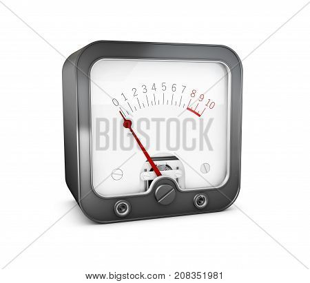 3D Illustration Of Electrician Multimeter Tester, Isolated On White