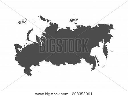 Territory of Russia. Grey background. Vector Illustration