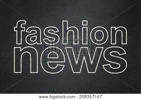 News concept: text Fashion News on Black chalkboard background