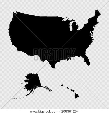 Territory of USA Haiti Alaska on a grey background. Vector illustration.