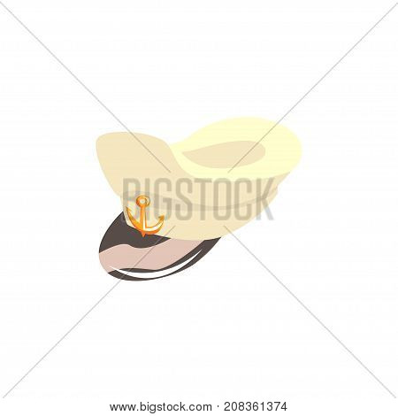 Navy captain hat vector Illustration isolated on a white background
