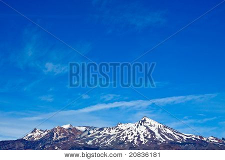 Mount Ruapehu And Blue Sky.