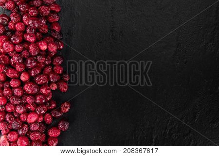 Dried Cranberries (selective Focus; Detailed Close-up Shot)