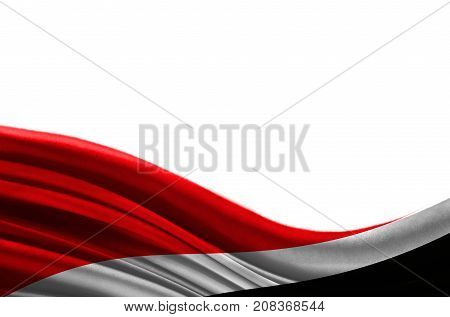 Grunge colorful flag Sealand,Principality of with copyspace for your text or images,isolated on white background. Close up, fluttering downwind.