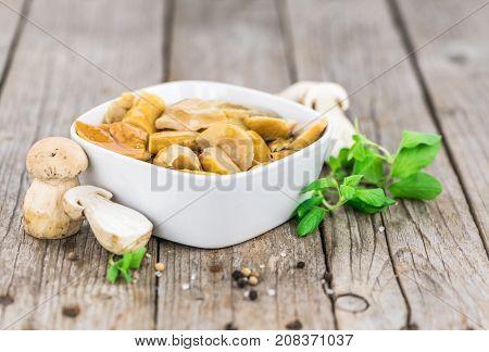 Fresh Made Preserved Porcinis