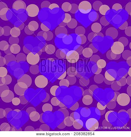 Hearts pattern for Valentine Day greeting card design. Romantic illustration for valentines day .