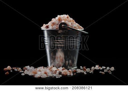 Silver Bucket With Salt