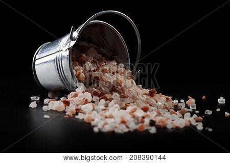 Bucket With Spilled Salt