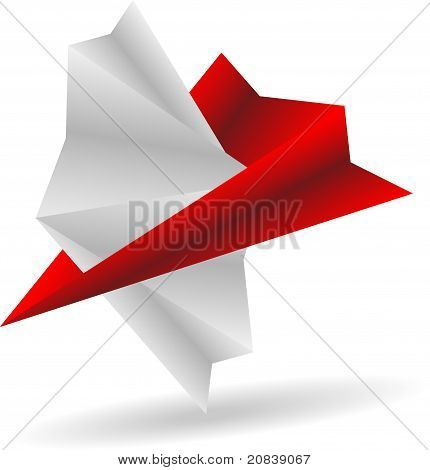 abstract origami grey colors stork
