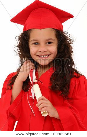 Proud Preschool Girl Graduate Child