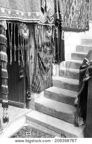 22ND JULY 2017,GOREME, TURKEY:An old traditional Turkish carpet shop in cappadocia, goreme,in turkey,22nd july 2017