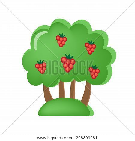 Colorful children's toys. Toy store, kindergarten, home kids games. Educational and sports games. Toy children's orchard with berries and fruits. Vegetation, trees, appearance. Vector illustration.