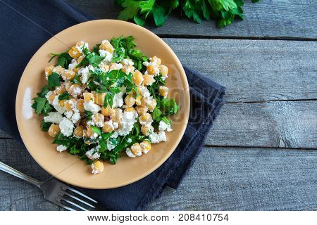 Chickpea Salad With Feta Cheese