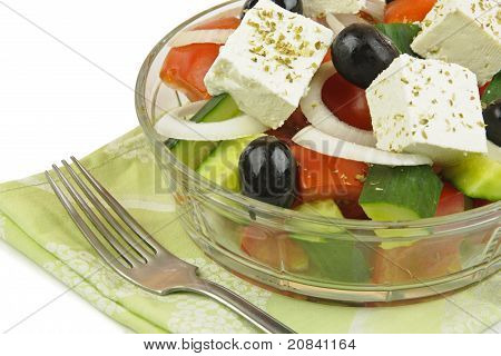 Greek Salad Close Up