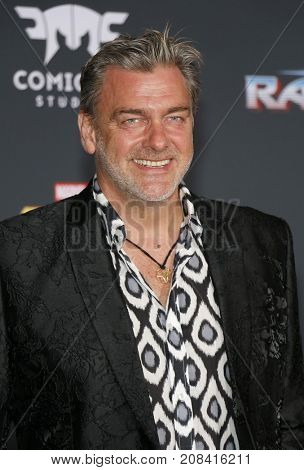 Ray Stevenson at the World premiere of 'Thor: Ragnarok' held at the El Capitan Theatre in Hollywood, USA on October 10, 2017.