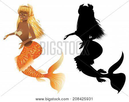 Gold Fish Tail Mermaid