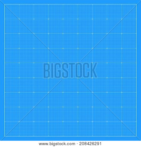 Square blueprint background texture. Vector technology illustration