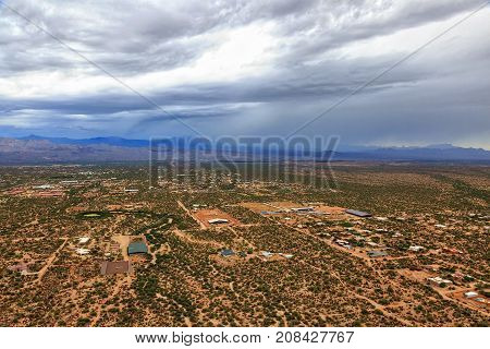 Monsoon Storm over the Sonoran Desert near Phoenix Arizona