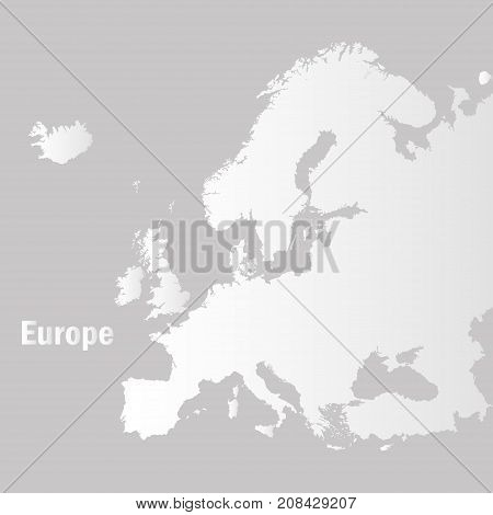 Territory Of Europe On A Grey Background