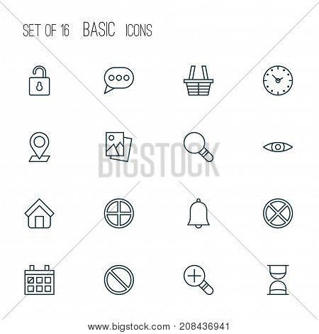 Network Icons Set. Collection Of Research, Exit, Message Bubble And Other Elements