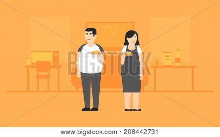Unhealthy Lifestyle Illustration
