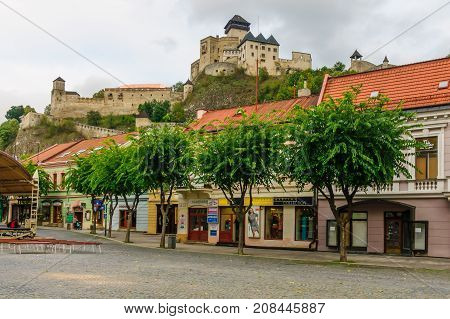 Old Center And The Castle, In Trencin