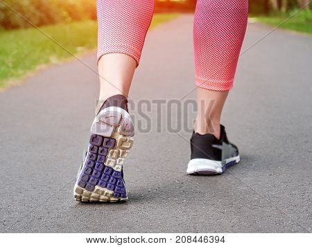 Runner Woman Feet, healthy life style concept