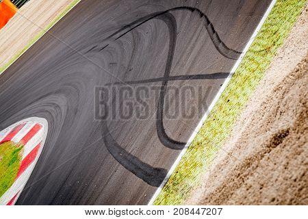 Motorsport Racing Track And Car Slammed Brakes Sign