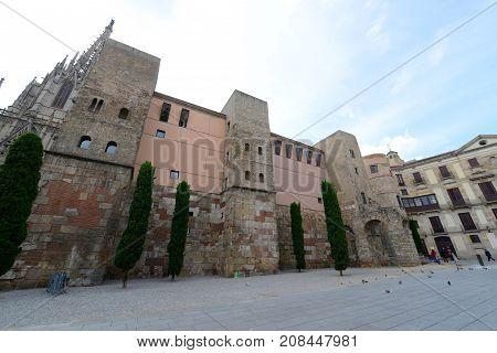 Casa de l'Ardiaca (Casa del Arcediano) is a historic building with part of the wall dates back to the Roman era in the Old City (Ciutat Vella) of Barcelona, Catalonia, Spain.