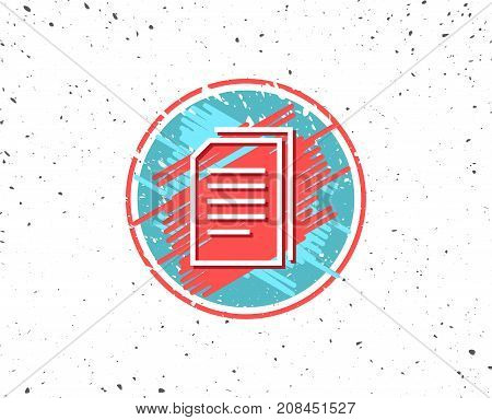 Copy Documents Line Icon. File Sign.