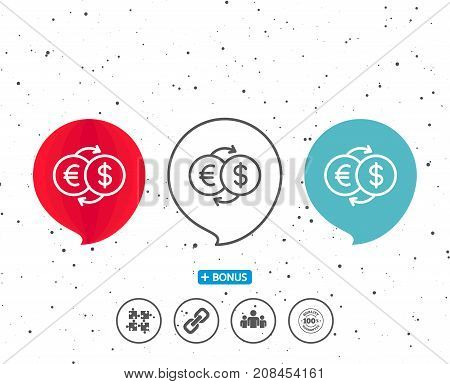 Money Exchange Line Icon. Banking Currency.