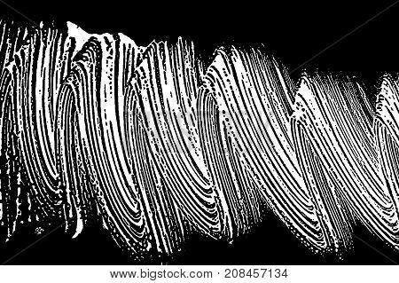 Grunge Soap Texture Black And White. Distress Black And White Rough Foam Trace Pretty Background. No