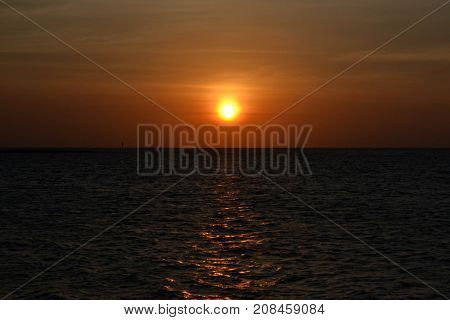 The Sunset Around Tidung Island. It's A Part Of The Chain Thousand Islands