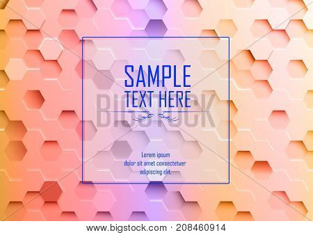 Vector illustration of Abstract hexagonal background- sample text here