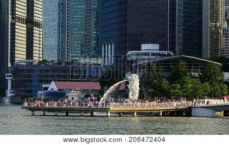 Cityscape Of Marina Bay In Singapore