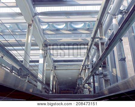 View Down An Elevator Shaft